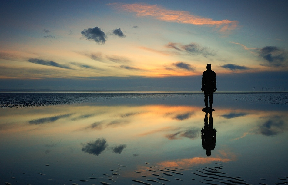 A piece of fine art art photography titled Reflections On Another Place by Ian Bramham