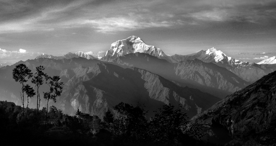 A piece of fine art art photography titled Dhaulagiri by Stefan Bingham