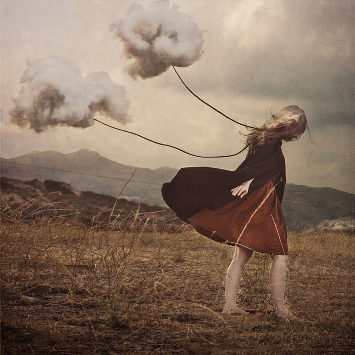 A piece of fine art art photography titled The Path by Brooke Shaden