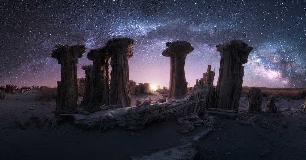 A piece of fine art art photography titled Alien Grotto by Blake Randall