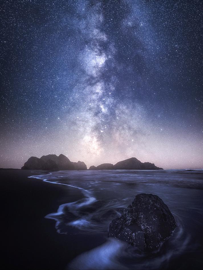 Oregon Coast at Night
