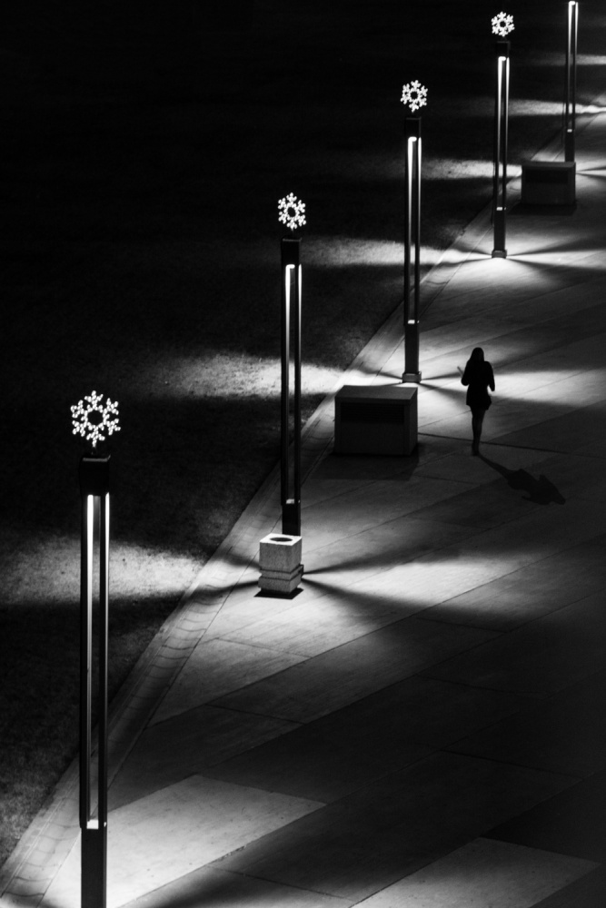 A piece of fine art art photography titled Walking In the Dark by Nenad Borojevic Foto
