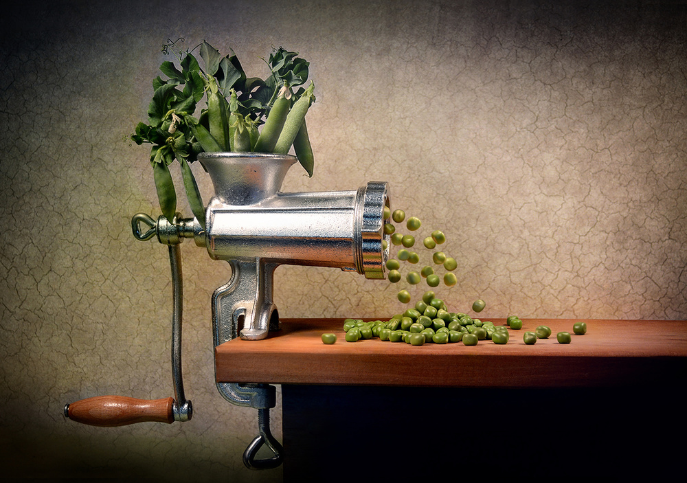 A piece of fine art art photography titled Give Peas a Chance by Paul Wullum