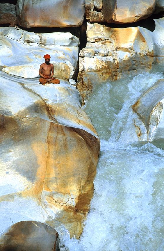 A piece of fine art art photography titled Gangotri Falls by Balazs Pataki