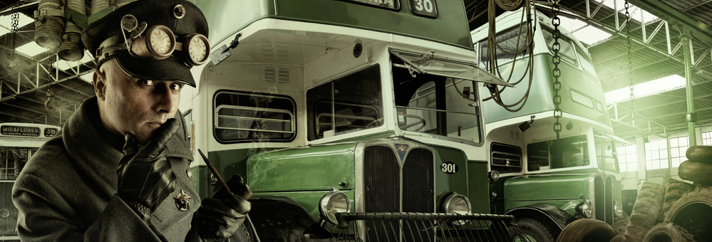 A piece of fine art art photography titled Bus Driver by Luis Louro