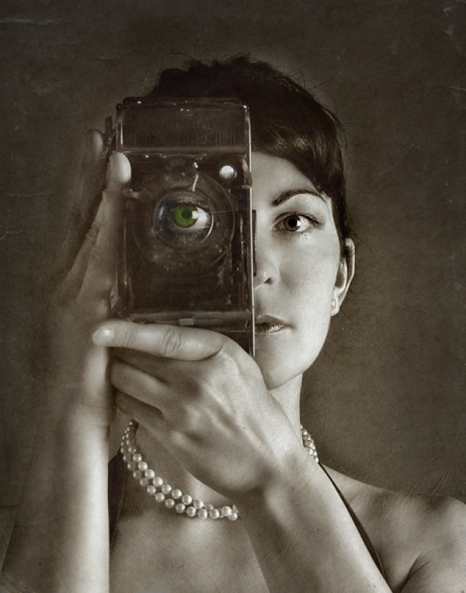 A piece of fine art art photography titled I Can See by Anja Papenfuss