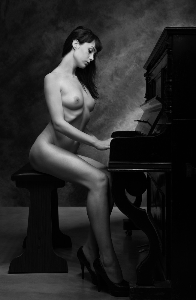 A piece of fine art art photography titled The Piano II by Luc Stalmans