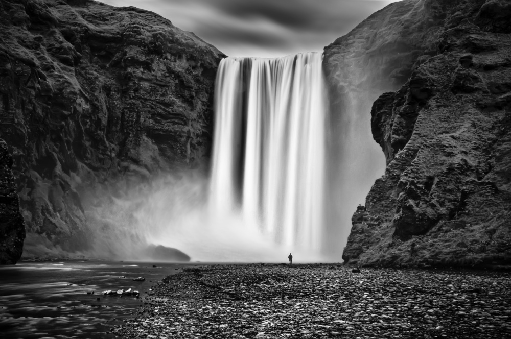 A piece of fine art art photography titled Skógafoss, Iceland by Daniel Schwabe