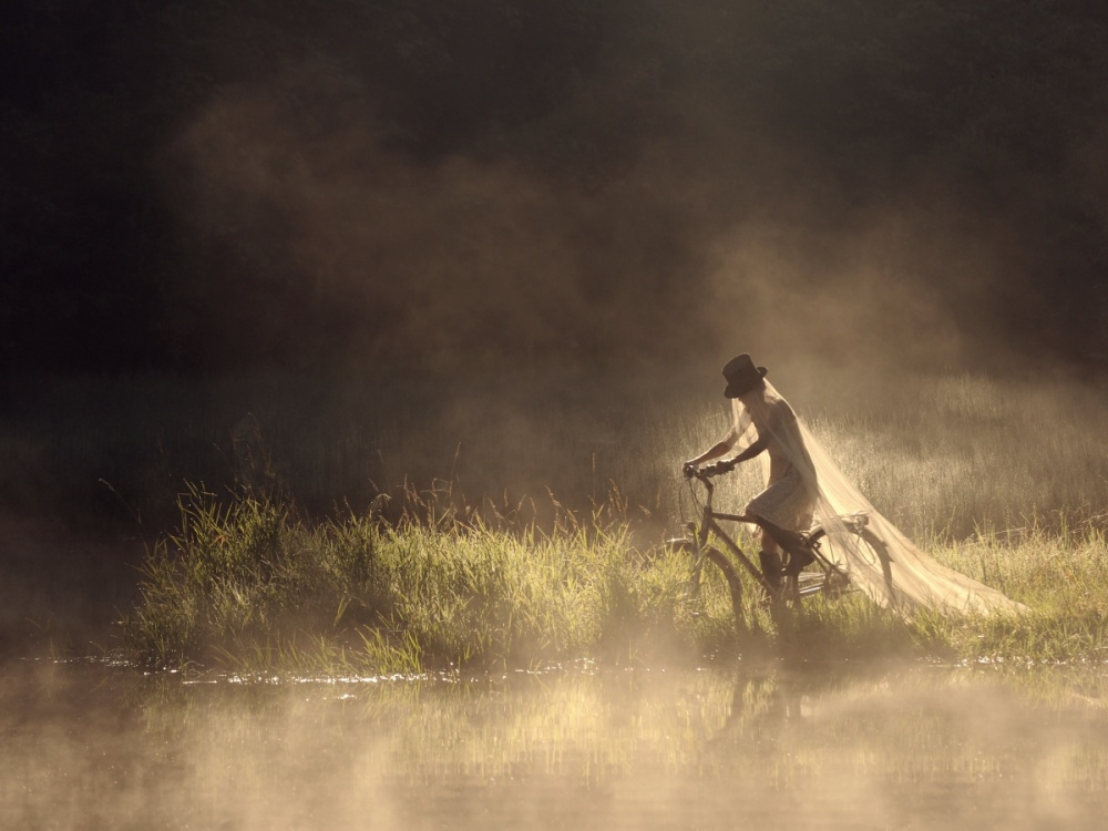 A piece of fine art art photography titled Runaway Bride by Sebastian Luczywo