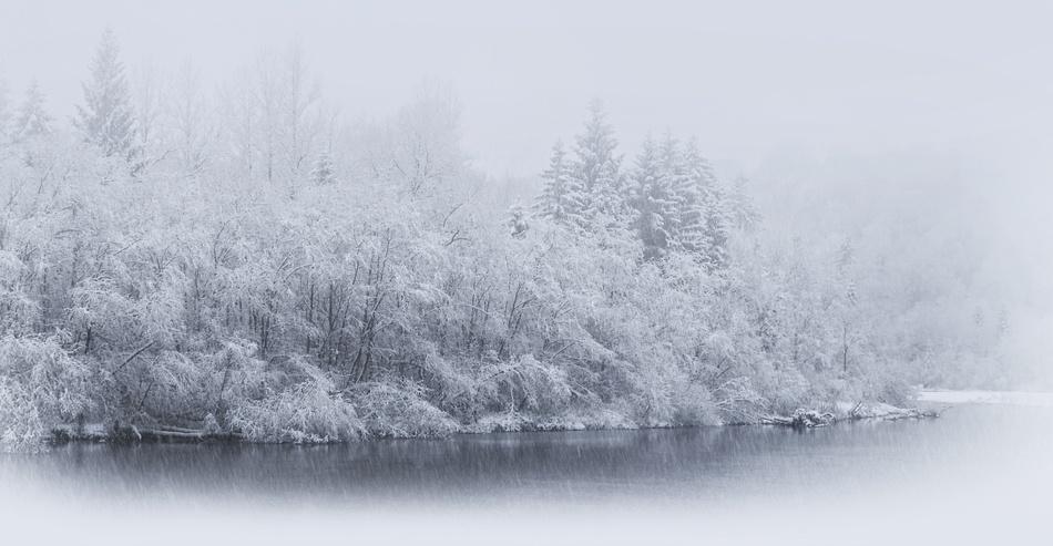 A piece of fine art art photography titled First Snow by Norbert Maier