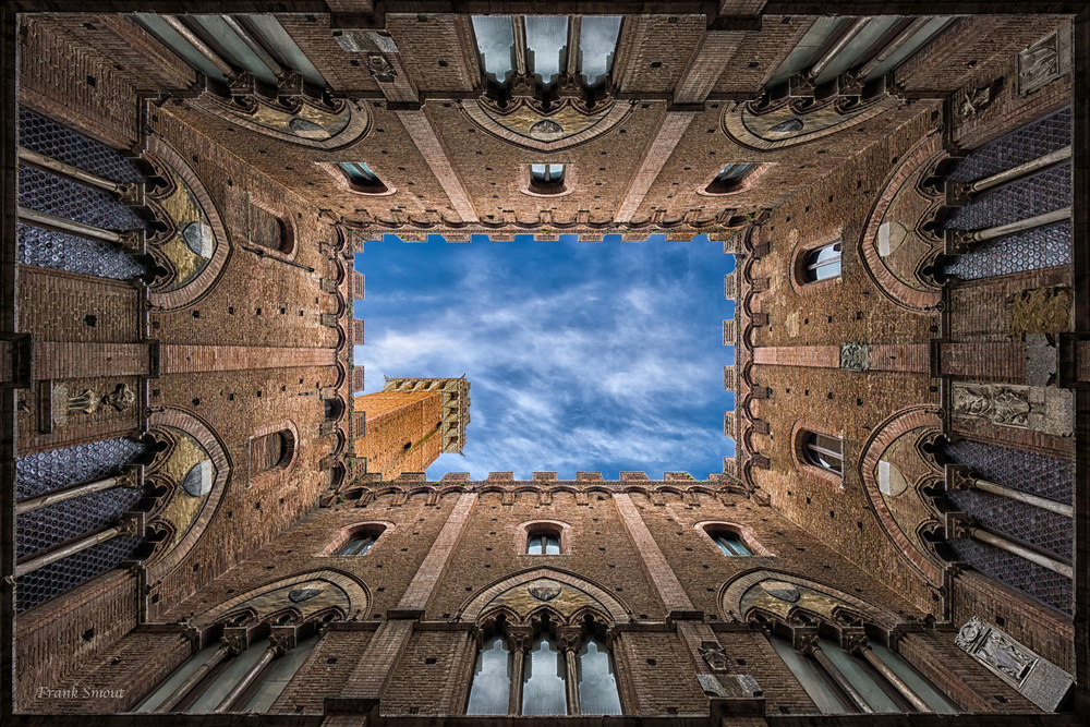 A piece of fine art art photography titled Palazzo Pubblico - Siena - Italy by Frank Smout Images