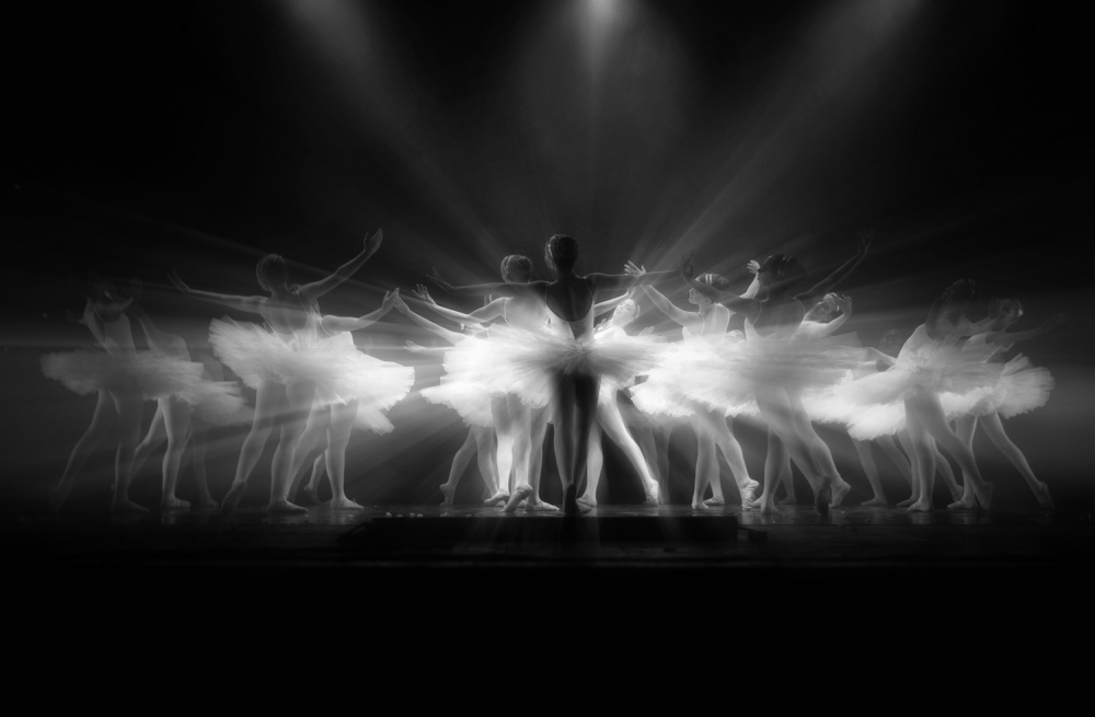 A piece of fine art art photography titled Dancing Light by Osher Partovi