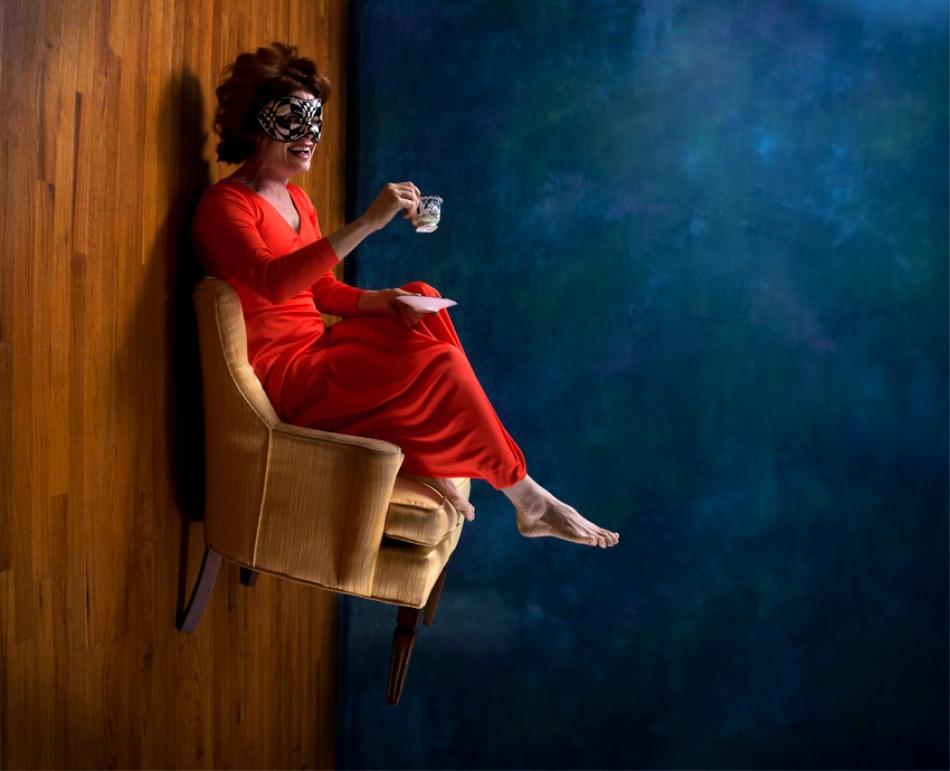 A piece of fine art art photography titled Tea With He by Johanna Siegmann