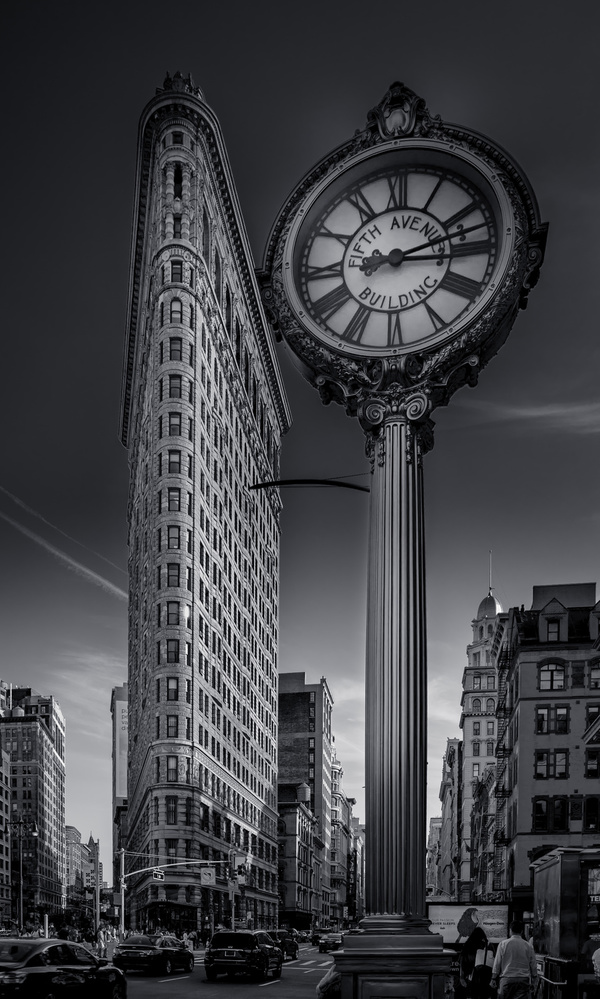 The Flat Iron and The Clock
