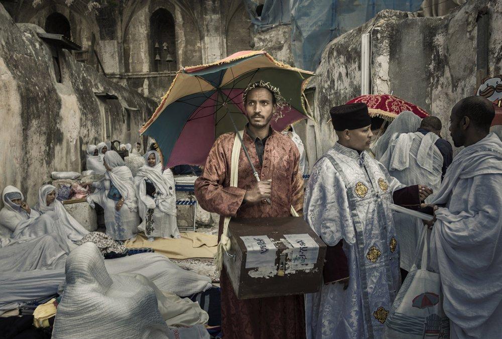 A piece of fine art art photography titled Holy Fire Ceremony, Jerusalem 2017 by Orna Naor