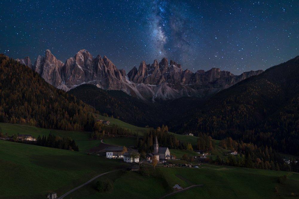 A piece of fine art art photography titled Val De Funes Under Milkyway by Vadim Sherbakov