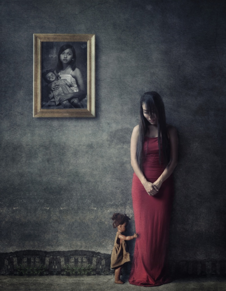 A piece of fine art art photography titled Chained Memories by heru agustiana