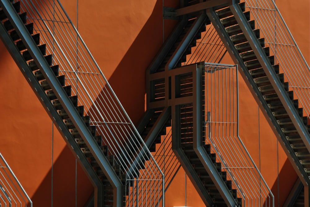 A piece of fine art art photography titled Impossible Stairs by Maria José Ramos
