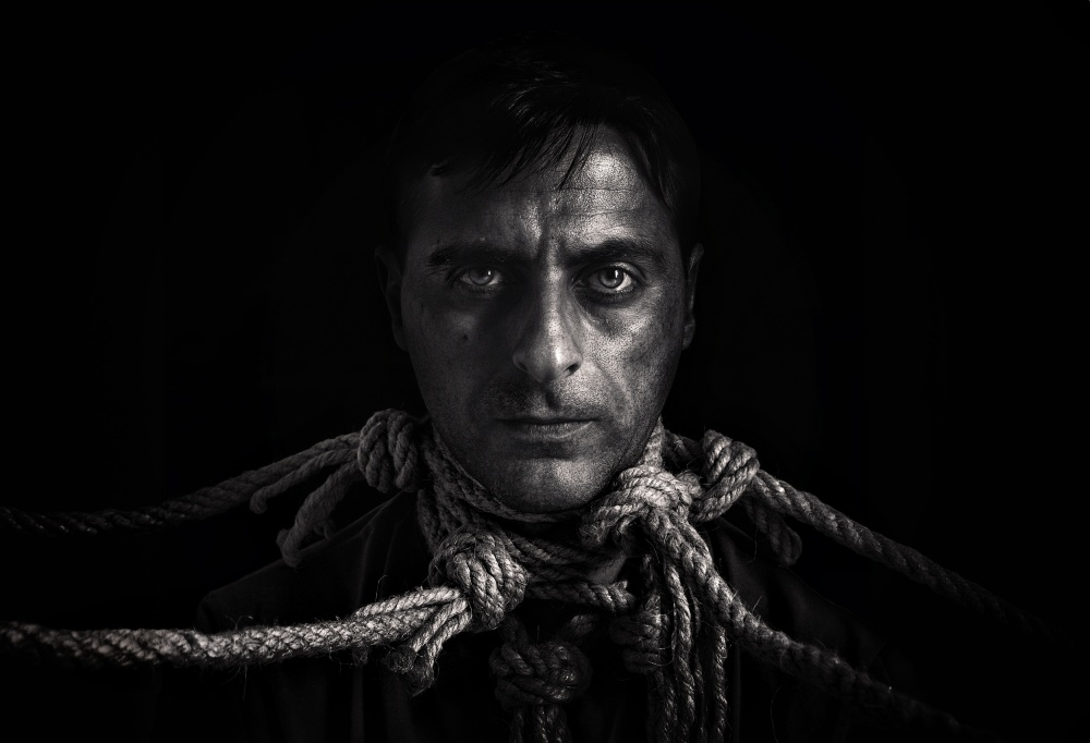 A piece of fine art art photography titled Modern Slave by Carlo Longarini