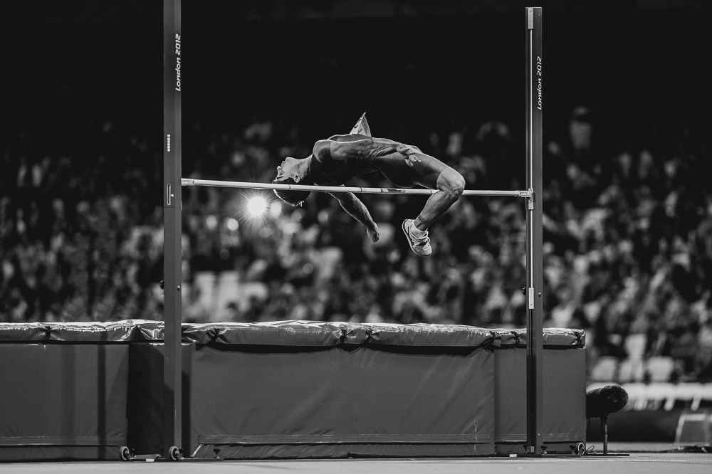 A piece of fine art art photography titled High Jump by Darko Pavlovic