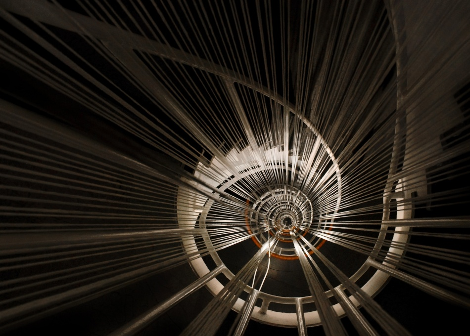 A piece of fine art art photography titled Eye of the Spiral Staircase by Marcus Bj [ Ö ] rkman