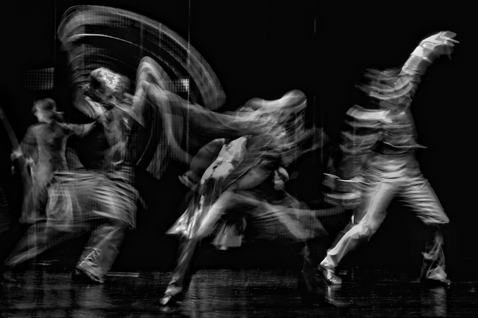 A piece of fine art art photography titled Wild Dance by Jure Kravanja