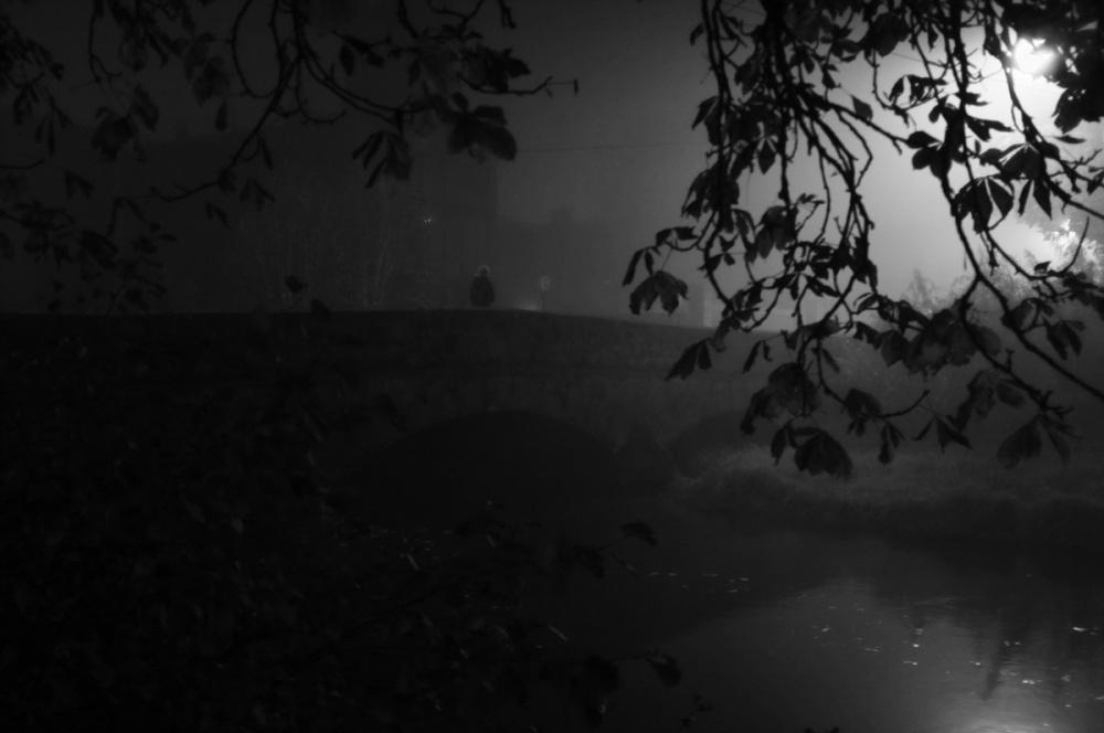 A piece of fine art art photography titled Alone On Fogy Day by Mateusz Zakrzewski