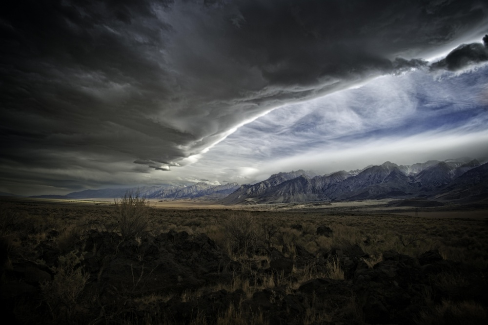 A piece of fine art art photography titled Land and Sky of Violence by Bruce H Wendler