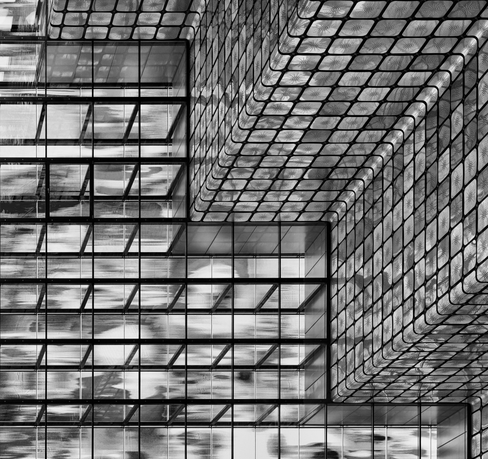 A piece of fine art art photography titled Silver Squares by Greetje van Son