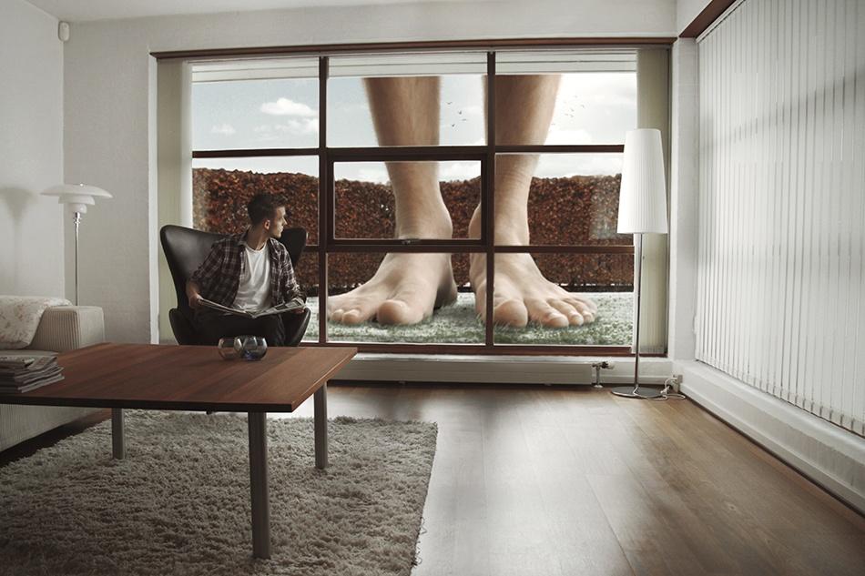 A piece of fine art art photography titled Small World / Big World by Nichlas Boysen