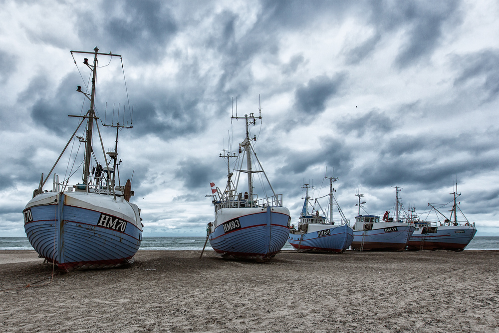 A piece of fine art art photography titled West Coast Fishing Boats by Leif Løndal
