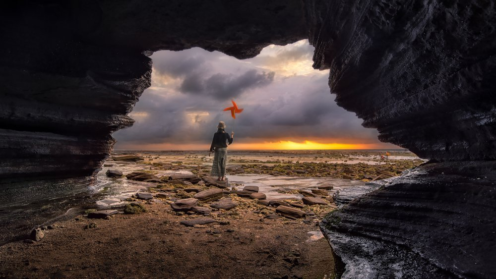 A piece of fine art art photography titled The World Beyond the Cave by zuoeryouer