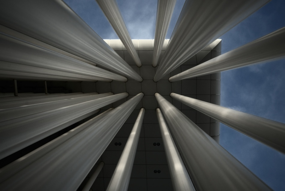 A piece of fine art art photography titled Luxembourg Philharmony Building by Claude Bour