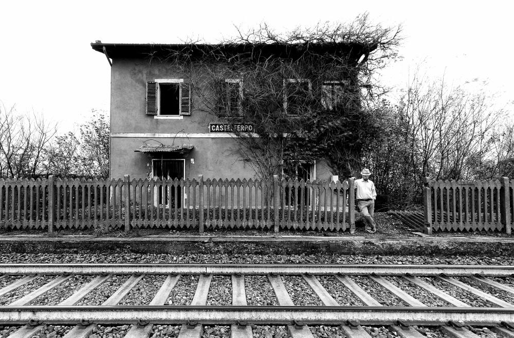 A piece of fine art art photography titled The Station of Castelferro by Carlo Ferrara