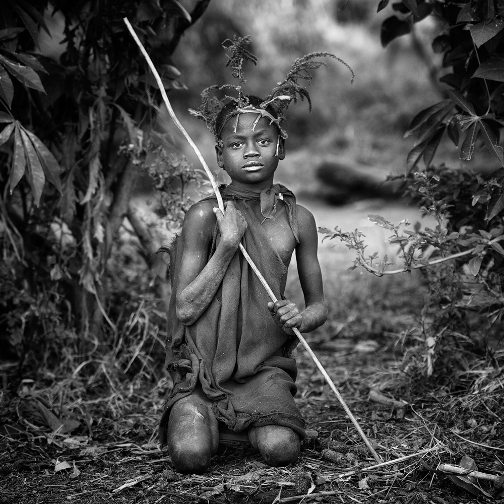 A piece of fine art art photography titled Suri Boy IV by Jose Beut