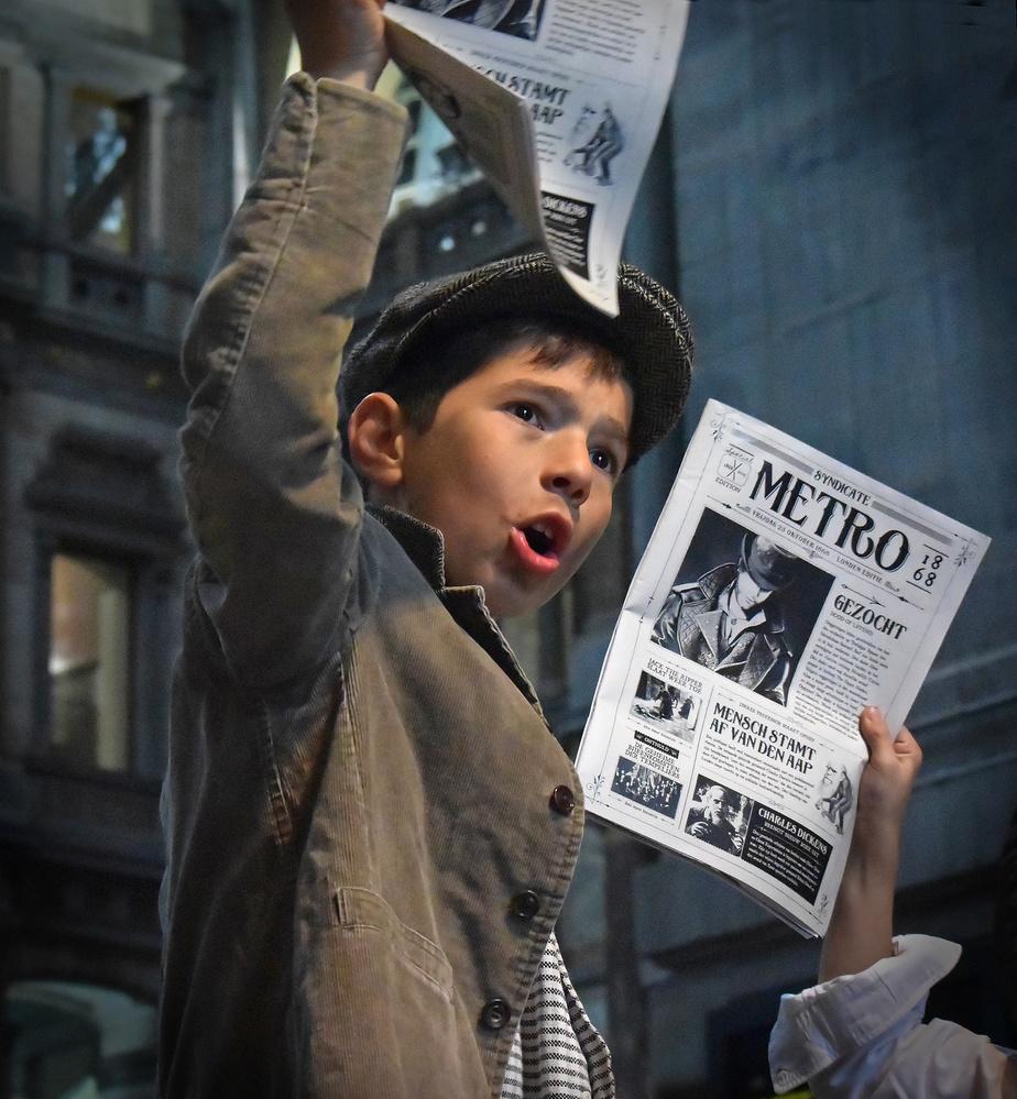 A piece of fine art art photography titled Newspaper Boys by Lus Joosten