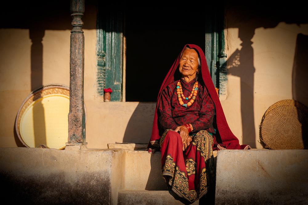 A piece of fine art art photography titled Raj Kumari Gurung by Adrian Popan