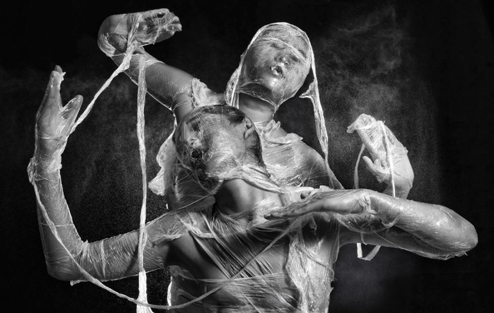 A piece of fine art art photography titled Plastic Dance by Bara Kenz