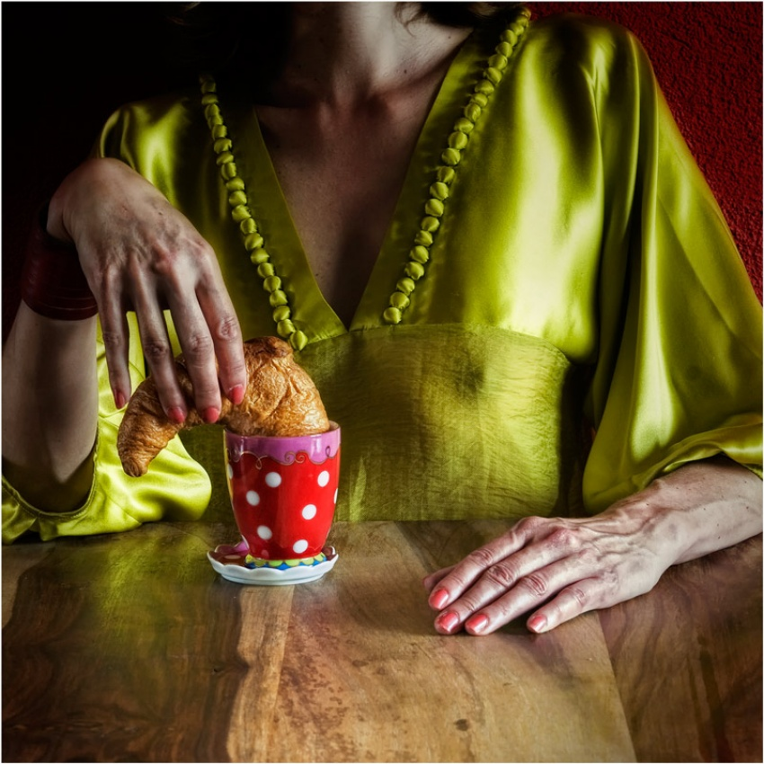 A piece of fine art art photography titled  French Breakfast  by ambra