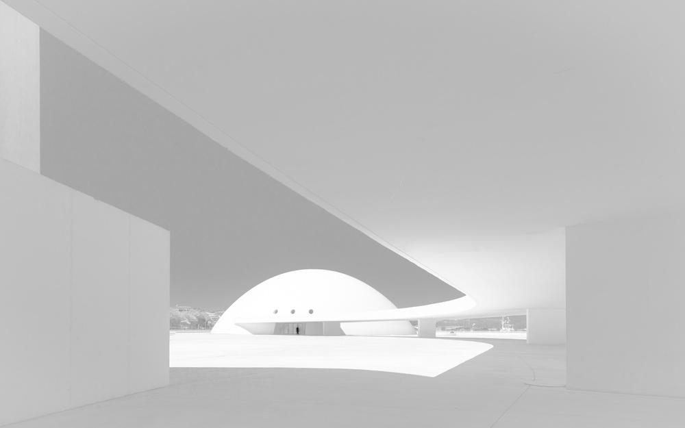 A piece of fine art art photography titled The Niemeyer Center by Iñaki Taboada