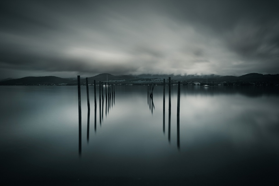A piece of fine art art photography titled Winters Reflection by Alex Wise