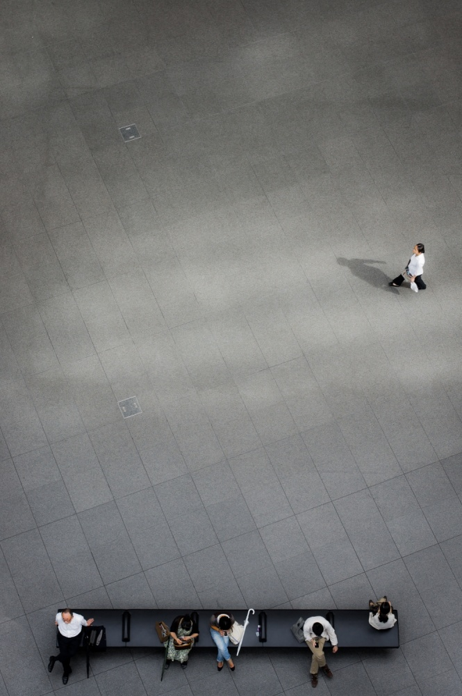 A piece of fine art art photography titled Human Space by tadashi onishi