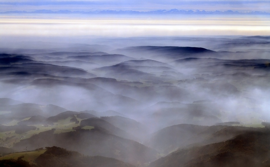 A piece of fine art art photography titled Autumn Over Black Forest by Ralf Greiner