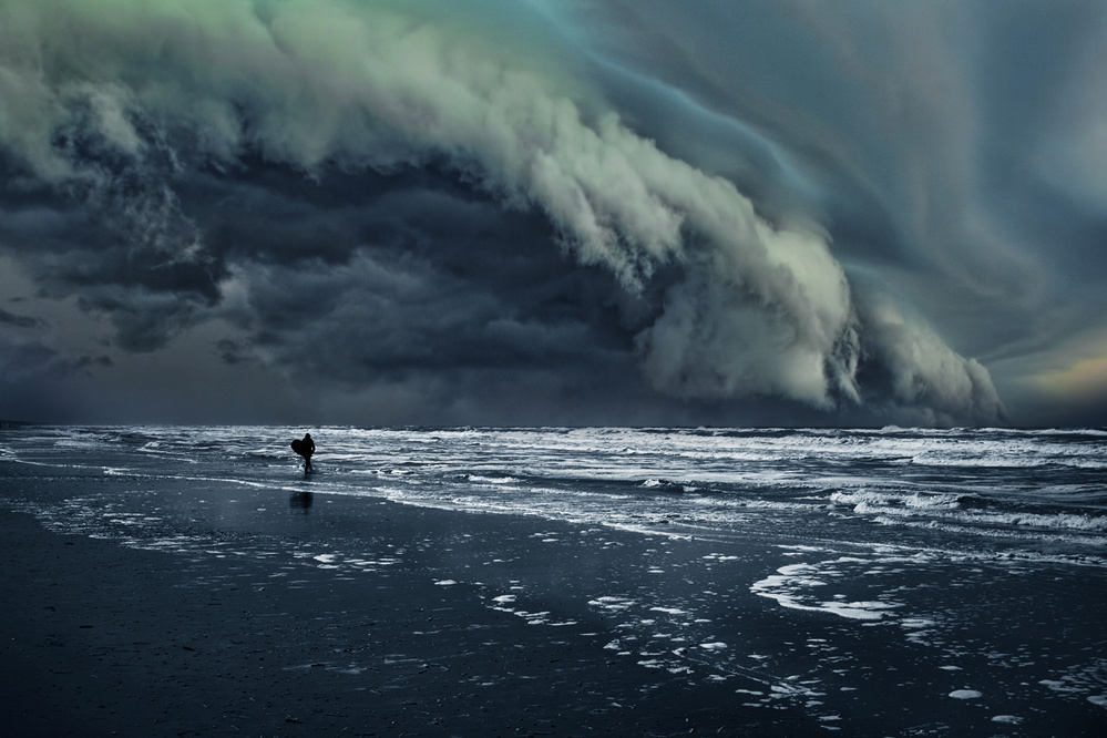 A piece of fine art art photography titled Drama at Sea by Jordy Caris