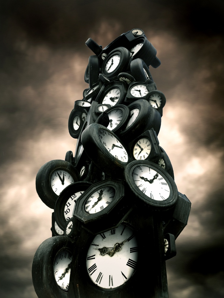 A piece of fine art art photography titled Rush Hours by Pascal Desvignes