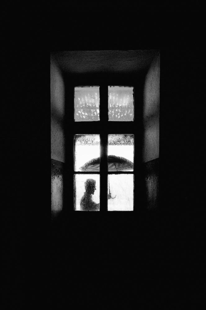 A piece of fine art art photography titled I Go Outside, When It Rains by Carlo Ferrara