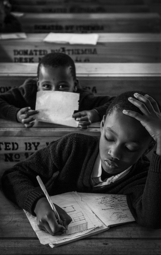 A piece of fine art art photography titled The Right to Education by Eliza Powell