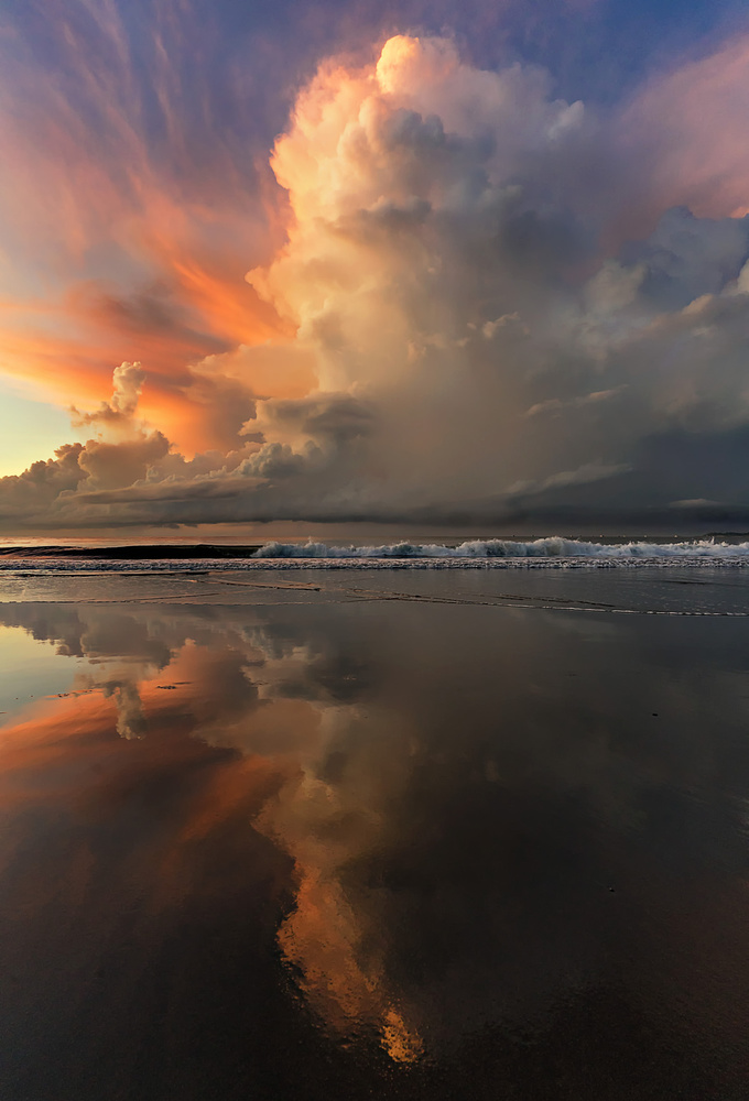 A piece of fine art art photography titled Blacksand Mirrors by Phil Green
