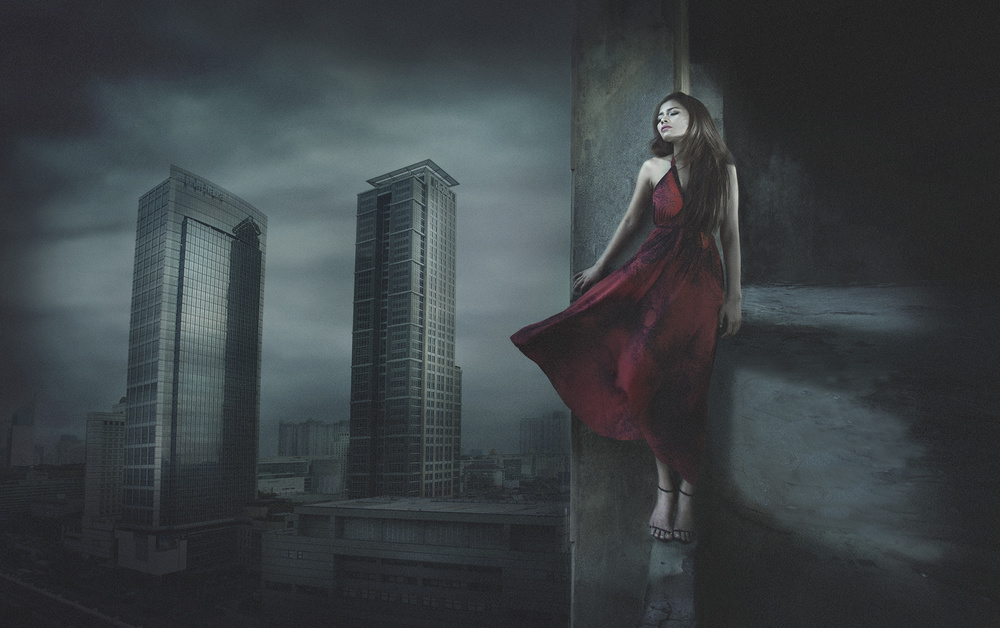 A piece of fine art art photography titled My Love Ends at the 16th Fl by Sebastian Kisworo