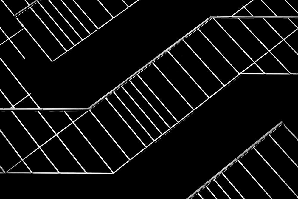 A piece of fine art art photography titled Black and Lines by Jeroen van de Wiel